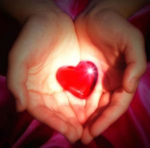 with heart