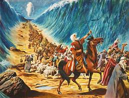 moses cross the red sea